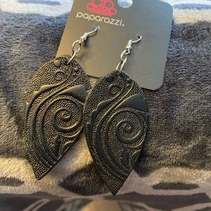 (5 for $15) Paparazzi Leather Earrings